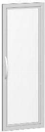 Geramöbel Glastür 343901-GT Flex Glastür 3OH satiniert im Holzrahmen für Korpusbreite 400 mm Silber