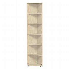 Geramöbel Eckabschlussregal 346010-A Flex Eckregal 6OH mit Standfüßen (BxTxH) 40 x 40 x 110,4cm Ahorn