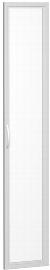 Geramöbel Glastür 346901-GT Flex Glastür 6OH satiniert im Holzrahmen für Korpusbreite 400 mm Silber