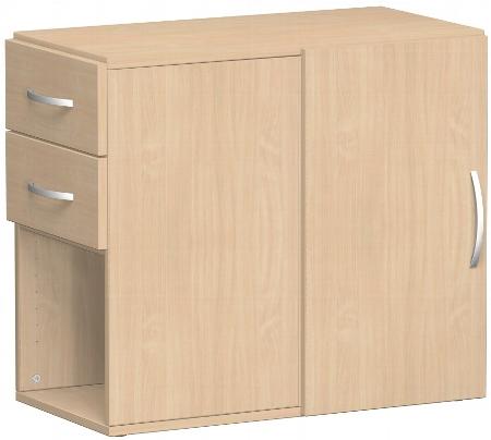 Geramöbel Anstellschrank 381300 mit Schubkästen in Schreibtischhöhe (BxTxH) 42x82x72cm Ahorn/Ahorn