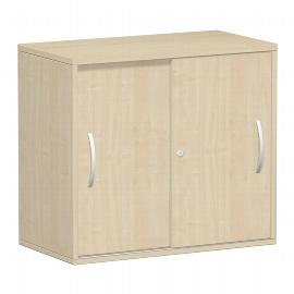 Geramöbel 381501 Anstell-Schiebetürenschrank 2OH abschließbar Schreibtischhöhe 72cm (BxT) 800x425mm Ahorn/Ahorn