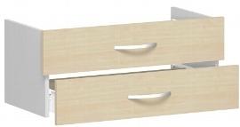Geramöbel Schubkasteneinsatz 381700-A Flex Schubladen 2er-Set 1OH für Korpusbreite 80cm Ahorn