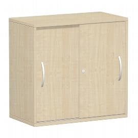 Geramöbel 382502 Schiebetürenschrank 2OH abschließbar (HxBxT) 798x800x425mm Ahorn/Ahorn