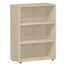 Geramöbel Regal 383001-A Flex Regal 3OH mit Standfüßen (BxTxH) 80 x 40 x 110,4cm Ahorn