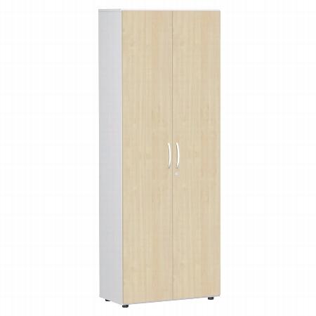 Geramöbel Garderobenschrank 386128-AA Flex Flügeltüren-Garderobenschrank abschließbar (BxTxH) 80 x 42 x 216cm Ahorn