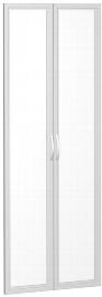 Geramöbel Glastürensatz 386901-GT Flex Glastüren satiniert 2er-Set 6OH für Korpusbreite 80cm Silber
