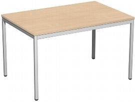 Geramöbel K520102 Konferenztisch Viereckfuß feste Höhe (BxTxH) 120x80x72cm Buche/Lichtgrau