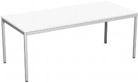 Geramöbel K520146 Konferenztisch Viereckfuß feste Höhe (BxTxH) 180x80x72cm Weiß/Lichtgrau