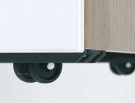Geramöbel Rollcontainer 530351 mit 3 Metall-Orgaschüben Tiefe 80cm Ahorn/Ahorn