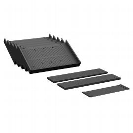Geramöbel Container Einrichtungs-Set 530900-M für Metall-Schubfächer 8-teilig Material Kunststoff Schwarz