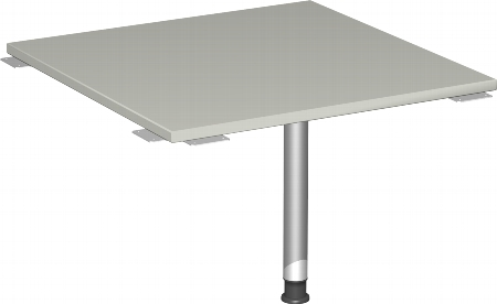 Geramöbel Verkettungsplatte 555008 4-Fuß Flex Volleck 90° (BxTxH) 80x80x68-80cm Ahorn/Silber