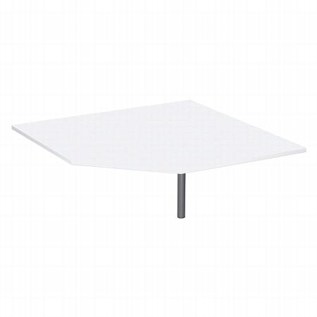 Geramöbel Verkettungsplatte 555010 4-Fuß Flex Fünfeck 90° (BxTxH) 122,5x122,5x68-80cm Ahorn/Silber