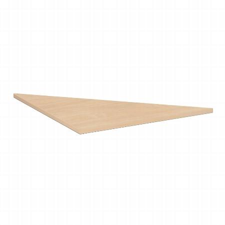Geramöbel Verkettungsplatte 555508 4-Fuß Flex Dreieck 90° Tiefe 80x80cm Ahorn