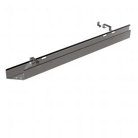 Geramöbel S-555912 Kabelkanal Silber Länge 60cm Befestigung unter der Tischplatte
