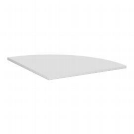 Geramöbel Verkettungsplatte 617108 C-Fuß Flex Viertelkreis 90° Tiefe 80x80cm Ahorn