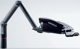 Novus 710+0005 Telefonschwenker TALKMASTER anthrazit 710+0005+000 2 Gelenkarme Universalzwinge1