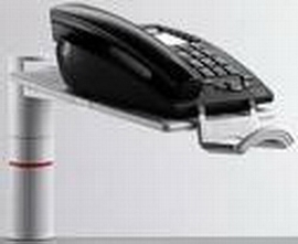 Novus 713+0002 Telefonschwenker PHONEMASTER lichtgrau 713+0002+000 ohne Arm Universalzwinge1