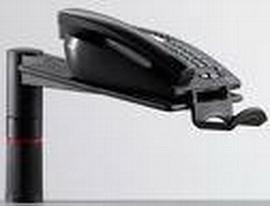 Novus 713+0005 Telefonschwenker PHONEMASTER anthrazit 713+0005+000 ohne Arm Universalzwinge1