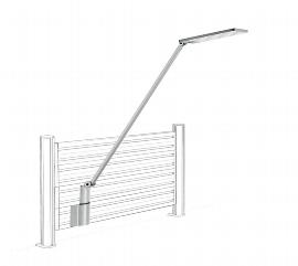 Novus 740+2179 Schreibtischlampe Attenzia complete Silber mit SlatWall Adapter