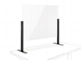 Novus 854+0165 POS Protect F Acrylglastrennwand (BxH)50x75mm mit Standfuß Anthrazit