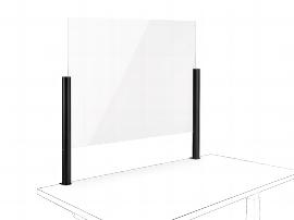Novus 854+0215 POS Protect C Acrylglastrennwand (BxH)75x50mm mit Systemzwinge 1 Anthrazit