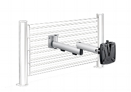Novus 964+0119 TSS SlatWall Faltarm II Monitorhalter bis ca. 10 kg