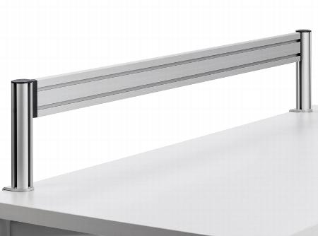 Novus 975+1209 TSS Toolbar 120cm SlatWall Element 120cm mit 2 TSS Säulen 250mm und Systemzwinge 1