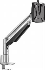 Novus 990+1019 Monitortragarm Clu 1 C Silber mit 3-in-1 Tischbefestigung Belastbar 2-7 kg