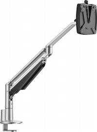 Novus 990+2019 Monitortragarm Clu 2 C Silber mit 3-in-1 Tischbefestigung Belastbar 2-7 kg