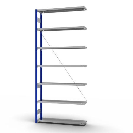 hofe Fachbodenregal Anbauregal HEA308013XL zerlegt 7 Böden (HxTxB) 3000x800x1300mm Enzianblau