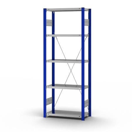 hofe Fachbodenregal Anbauregal HEA206010XL zerlegt 5 Böden (HxTxB) 2000x600x1000mm Enzianblau