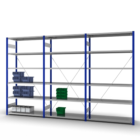 hofe Komplettregal Orion Plus 1x HEG 253007 XL, 2x HEA (HxBxT) 2500x2250x300mm Enzianblau