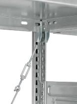 Hofe Aktenregal Orion Plus HKG20307EX Grundregal 6 Böden einseitig (HxTxB) 2000x300x750mm lichtgrau