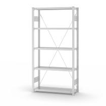 hofe Fachbodenregal Grundregal HKG20310XL zerlegt 5 Böden (HxTxB) 2000x300x1000mm Lichtgrau