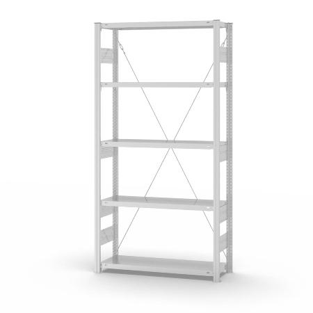 hofe Fachbodenregal Grundregal HKG20310XS Fachlast bis 330kg* (HxTxB) 2000 x 300 x 1000 mm zerlegt 5 Böden Lichtgrau