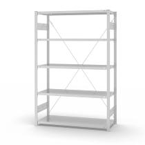 hofe Fachbodenregal Grundregal HKG20507XL zerlegt 5 Böden (HxTxB) 2000x500x750mm Lichtgrau