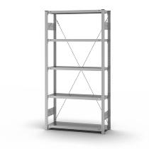 hofe Fachbodenregal Grundregal HZG20310XL zerlegt 5 Böden (HxTxB) 2000x300x1000mm verzinkt