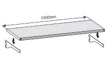 hofe Fachböden K 10022 für Wandregale Stecksystem RR (BxT) 1000x175mm Lichtgrau