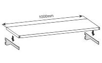 hofe Konsolträger K 624175 für Wandregale Stecksystem RR für Bodentiefe 175 mm Lichtgrau