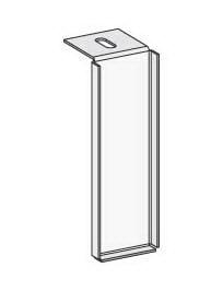 Hofe Kippsicherung Deckenverankerung KW46 verstellbar bis max.50mm Lichtgrau