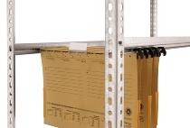 hofe Hängemappenregal Grundregal Schraubsystem WR einseitig zerlegt WZG173510HE 5 Ebenen verzinkt