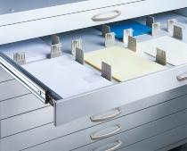 C+P Fachunterteilung 0102-00 (2 x DIN A2) für Schubladen DIN A1