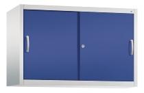 C+P Schiebetüren-Aufsatzschrank 2045-00 C 2000 Acurado 2OH (HxBxT) 790x1200x400mm Lichtgrau/Lapisblau