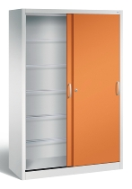 C+P Hängeregistraturschrank Schiebetüren 2050-60 Acurado 6x Leitz/Elba (HxBxT) 1950x1200x500mm Lichtgrau/Gelborange