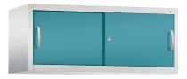 C+P Schiebetüren-Aufsatzschrank 2054-00 C 2000 Acurado 1OH (HxBxT) 500x1200x500mm Lichtgrau/Wasserblau