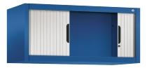 C+P Rollladen-Aufsatzschrank 3262-00|S10062 Omnispace Maße H450xB1000xT420mm Enzianblau/Lichtgrau