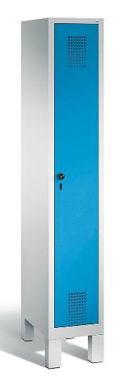 C+P Garderobenschrank 48010-12 Evolo 1 Abteil 400mm (HxBxT) 1850x420x500mm Lichtgrau