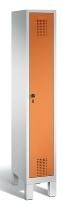 C+P Garderobenschrank 48010-10 Evolo 1 Abteil 300mm (HxBxT) 1850x320x500mm Lichtgrau/Gelborange