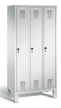 C+P Garderobenschrank 48010-30 Evolo 3 Abteile 300mm (HxBxT) 1850x900x500mm Lichtgrau