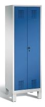 C+P Doppelspind Evolo 48012-20 auf Füßen 2 Abteile 300mm (HxBxT) 1850x610x500mm Lichtgrau/Enzianblau